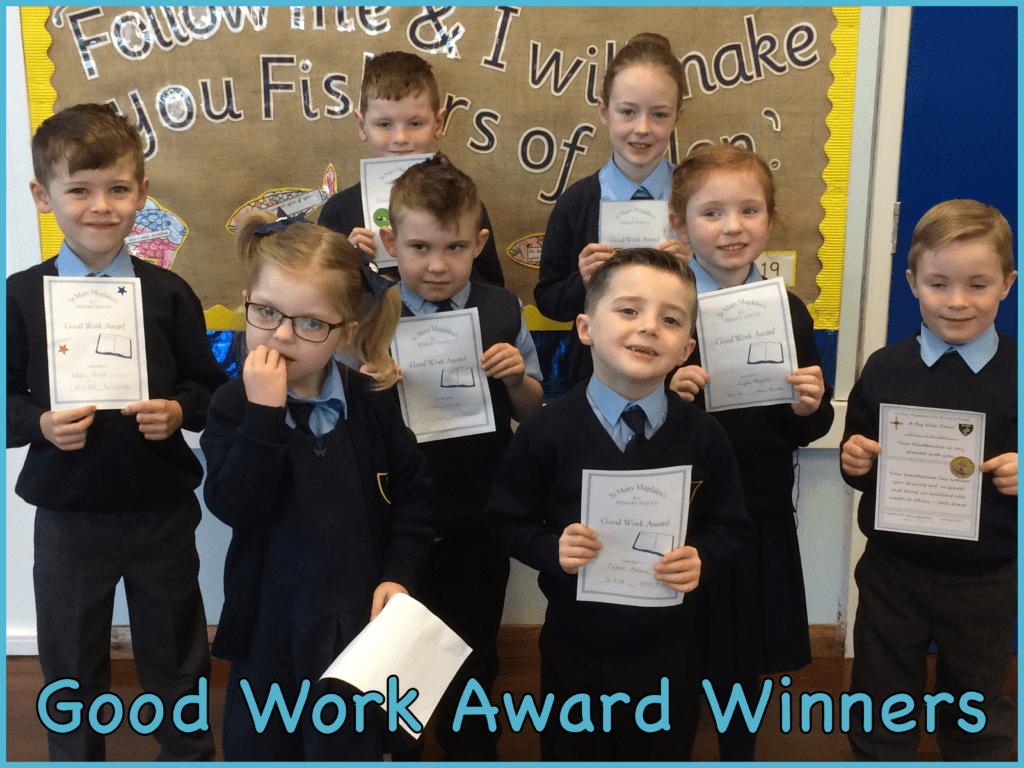 Good Work Award Winners