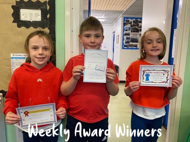Weekly Award Winners
